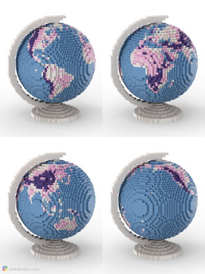 Dirks LEGO® Globe Friendly Feeling 4 sides