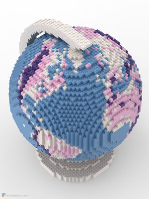 Dirks LEGO® Globe Friendly Feeling from above