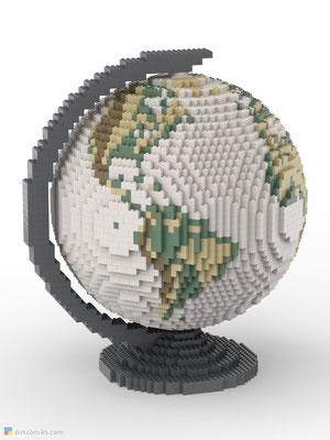 Dirks LEGO® Globe Antique with dark bluish grey stand