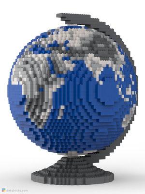 Dirks LEGO® Globe Metallic front view