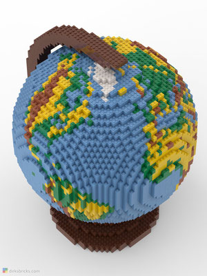 Dirks LEGO® Globe Premium from above