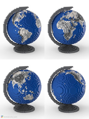 Dirks LEGO® Globe Metallic 4 sides