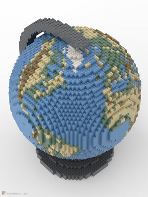 Dirks LEGO® Globe Smooth from above