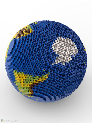 Dirks LEGO® Globe Original from below