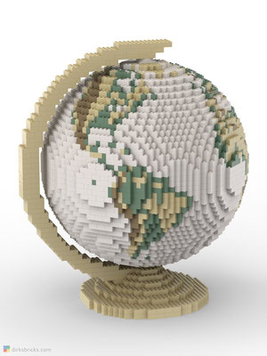 Dirks LEGO® Globe Antique with tan stand