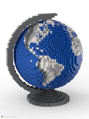 Dirks LEGO® Globe Metallic