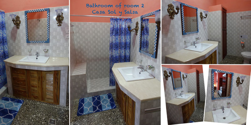 Bathroom of room 2 in apartment of 'Casa Sol y Salsa'