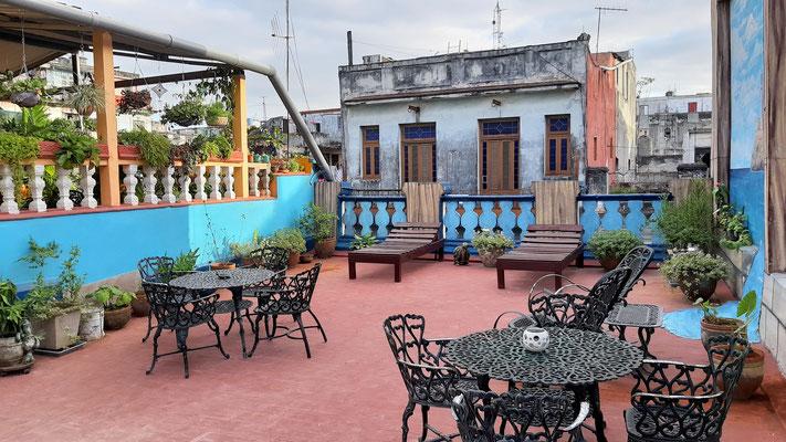 View from terrace of Casa Sol y Sombra to Casa Sol y Salsa