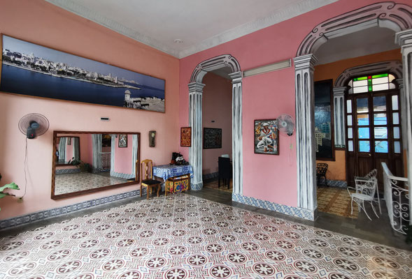 Living room used for dance classes of 'Salsa con Clase'