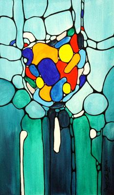 Fantasie Acryl auf Leinwand 2009