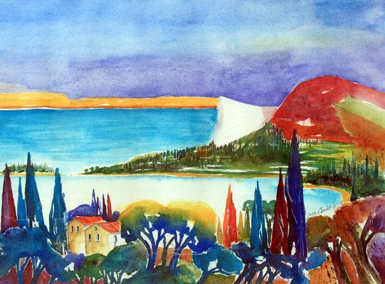Manerba del Garda Aquarell 36 x 48 cm