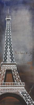 Eiffelturm Acryl auf Leinwand 2012