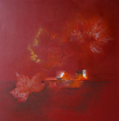 Herbst Arcyl auf Leinwand