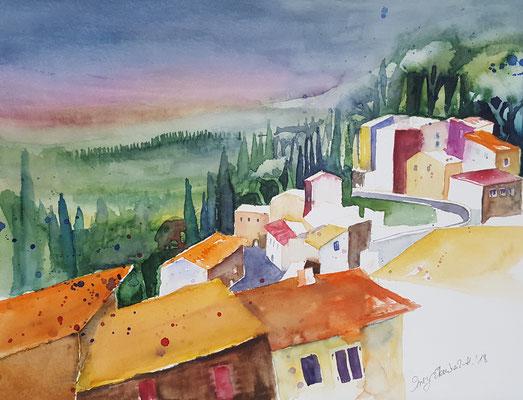 Legoli Toskana 2018 Aquarell 36 x 48 cm
