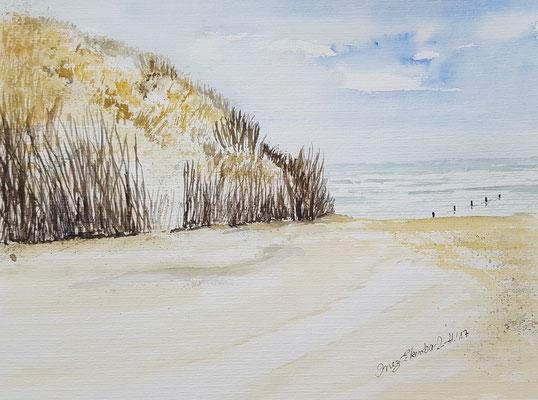Weiße Düne Norderney 2017 Aquarell  24 x 32 cm