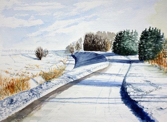 Winter Hallbergmoos 24 x 32 cm