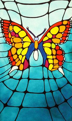 Schmetterling Acryl auf Leinwand
