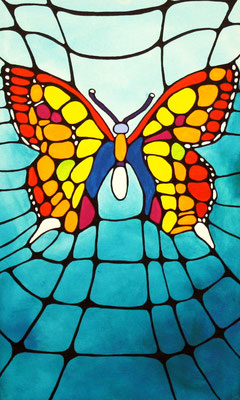 Schmetterling Acryl auf Leinwand 2009