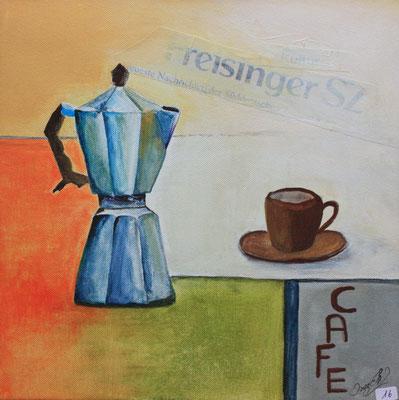 Cafe Acryl auf Leinwand - verkauft