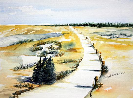 Landschaft bei Hallbergmoos 24 x 32 cm