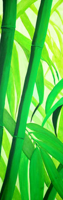 Bambus Acryl auf Leinwand 2012
