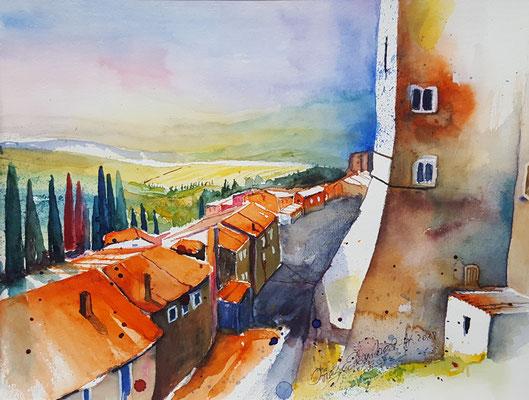 San Miniato Toskana 2018 Aquarell 24 x 32 cm