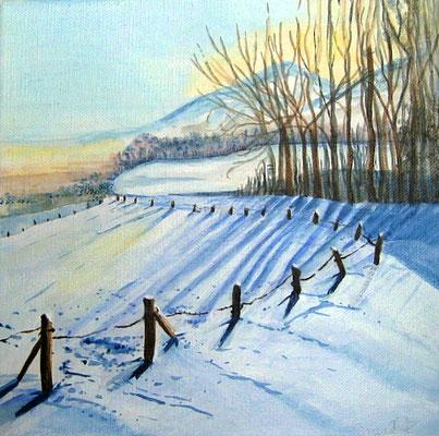 Winter Acryl auf Leinwand  - verkauft