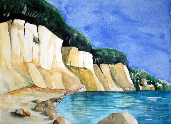 Kreidefelsen Aquarell 36 x 48 cm