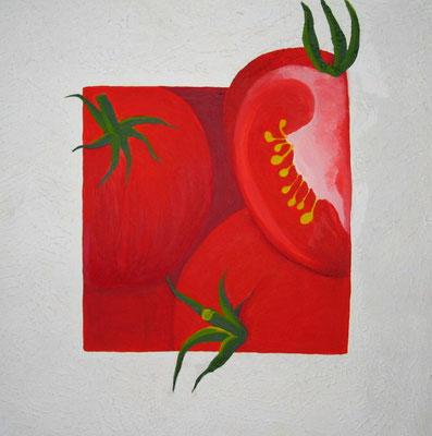 Tomaten Acryl auf Leinwand - verkauft