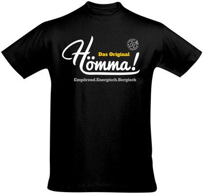 "Herren-/Unisex-T-Shirt ""Hömma!"" Schwarz (HA02)"