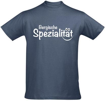 "Herren-/Unisex-Shirt ""Bergische Spezialität"" Denim(BS02)"