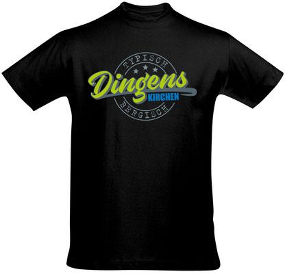 "Herren-/Unisex-T-Shirt ""Dingenskirchen"" Schwarz (DK01)"