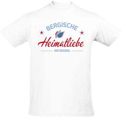 T-Shirt Bergische Heimatliebe Weiß