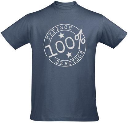 """Herren-/Unisex-T-Shirt """"Typisch Bergisch"""" Denim (TB01)"""