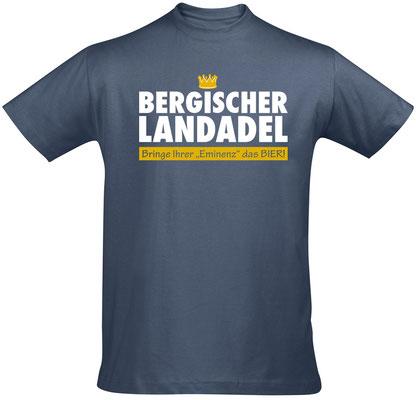 "Herren-/Unisex-Shirt ""Bergischer Landadel"" Denim(BL02)"