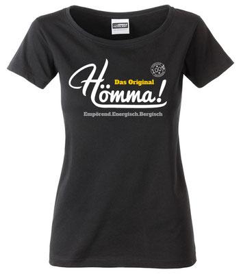"Damen T-Shirt ""Hömma!"" Schwarz (HA02)"