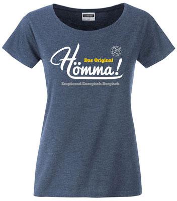 "Damen T-Shirt ""Hömma!"" Denim Heather (HA02)"
