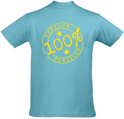T-Shirt Typisch Bergisch Atoll Blue