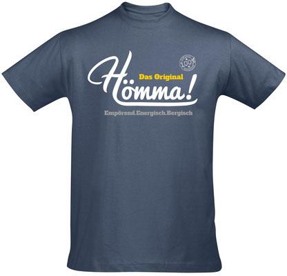 """Herren-/Unisex-T-Shirt """"Hömma!"""" Denim (HA02)"""