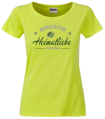 T-Shirt Bergische Heimatliebe Acid Yellow