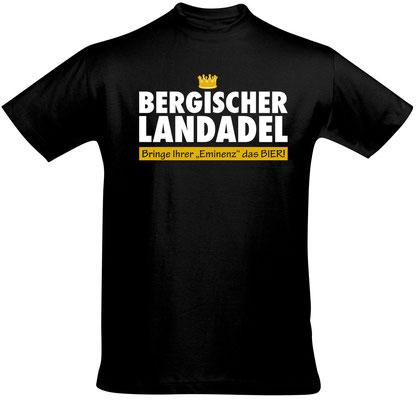 "Herren-/Unisex-Shirt ""Bergischer Landadel"" Schwarz (BL02)"
