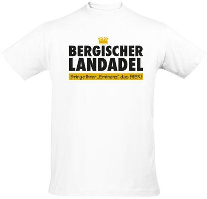 "Herren-/Unisex-Shirt ""Bergischer Landadel"" Weiß (BL01)"