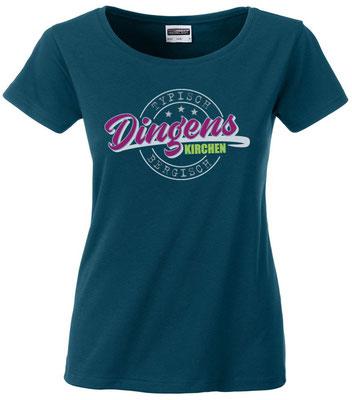"""Damen T-Shirt """"Dingenskirchen"""" Petrol (DK02)"""