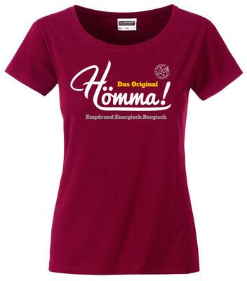 """Damen T-Shirt """"Hömma!"""" Wine (HA02)"""