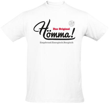"""Herren-/Unisex-T-Shirt """"Hömma!"""" Weiß (HA01)"""