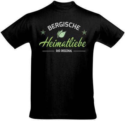 T-Shirt Bergische Heimatliebe Schwarz