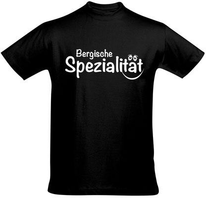 "Herren-/Unisex-Shirt ""Bergische Spezialität"" Schwarz (BS02)"