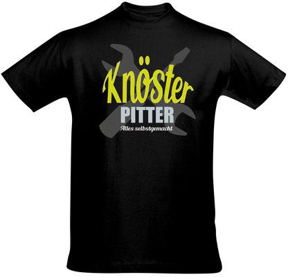 "Herren-/Unisex-Sirt ""Knösterpitter"" Schwarz (KP02)"