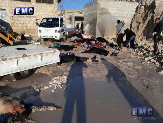 """Результаты химической атаки в Сирии. Путинская """"помощь"""" режиму Ассада."""