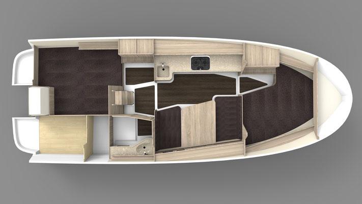 Nexus 870 Revo Plan d'aménagement intérieur